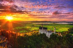 Neuschwanstein Castel, Black Forest, Germany: where Wagner's sagas came to life. Stunning.