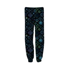 Midnight Snowflakes Sweatpants from PAOM...SpiceTree @ Print All Over Me.