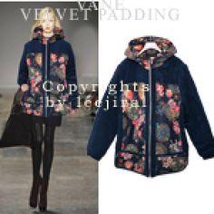 Floral Hood Zip-Up Jacket