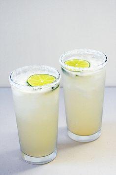 Paloma: grapefruit and lime juice, tequila, soda, and salt rim.