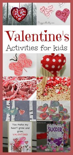 Valentine's Activities for Kids -fun crafts and activities for kids