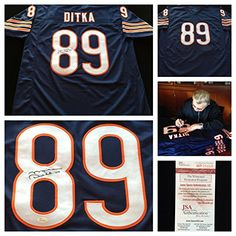 Mike Ditka Chicago Bears Signed Autograph Blue Jersey JSA COA at Amazon s  Sports Collectibles Store 470e76f71