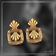 """When the word """"Classy"""" needs an example, This beautiful and sophisticated pair of #earring is bull's eye. A perfect piece to show off with both western and traditional clothings. #SunarJewelsIndia"""