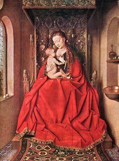 Turkotek Salon J. van Eyck. 1436. The Lucca Madonna. Frankfurt.