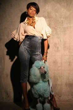 Kelis.....#denim jeans