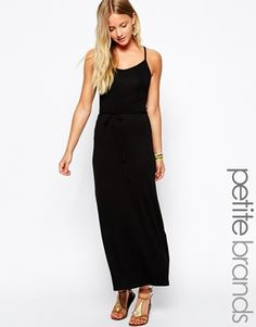 Image 1 of New Look Petite Jersey Strappy Back Maxi Dress