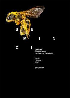 Poster by Xavier Esclusa Trias Seminci Graphic Design Branding, Logo Branding, Multimedia Artist, Type Posters, Minimal Fashion, Men's Fashion, Art Director, Print Design, Typography