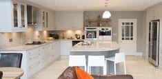 "Contemporary ""Lipizzaner Grey"" kitchen design near Terenure, Dublin. Kitchen by #EnigmaDesign."