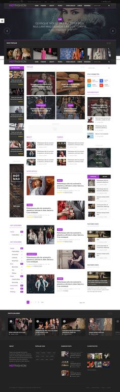 HOTMAGAZINE is a comprehensive WordPress theme for widespread use. It will works good as a News #Website, or in categories like: Fashion, Sport, Design, Games Themes, Games, Tech, Technology, Travel, Dark, Politics #Magazine or Blog. Contains everything you should include in magazine theme.  #celebrity #gossip #fashion #flashnews #template