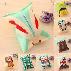 Cartoon Tissue Paper Storage Box Cotton Linen Napkin Cover Holder Rabbit