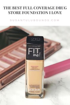 Maybelline Fit Me! Dewy + Smooth Foundation - The Best Drugstore Product Review