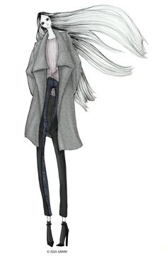 ISSA GRIMM: fashion illustration  issagrimm.com #fashionillustration #fashiondesign