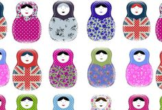 Russian Dolls fabric from Rosablue, £35.00