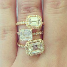 I don't like the gold band but I LOVE the Horizontal way the diamond sits!
