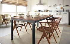 Room & Board - Parsons Dining Table with Soren Dining Chairs