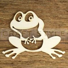 Woodworking Patterns, Woodworking Projects Diy, Scroll Saw Patterns, Wood Patterns, Small Wood Projects, Projects To Try, Printable Stencil Patterns, Frog Ornaments, Fun Crafts