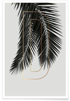 Plants D als Premium Poster von typealive | JUNIQE