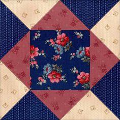 Prairie Rose Flowers Pre-cut Quilt Blocks Kit