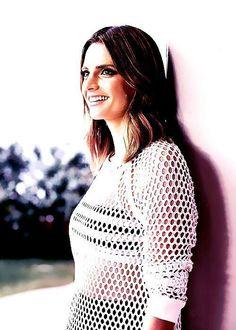 :) Castle Tv Series, Castle Beckett, Great Tv Shows, Metal Girl, Stana Katic, Most Beautiful Women, Her Style, Crochet Top, Sexy Women