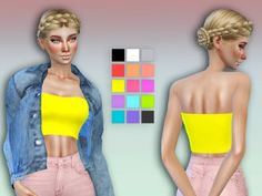 The Sims Resource: 'Comic Pop' Bandeau by simlark • Sims 4 Downloads