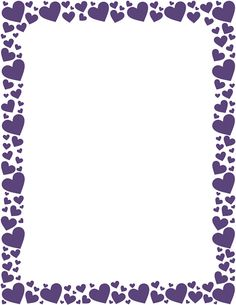 Printable purple heart border. Free GIF, JPG, PDF, and PNG downloads at http://pageborders.org/download/purple-heart-border/