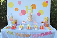 You Are My Sunshine Children's Party Dessert Tablescape