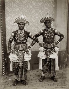 """""""Devil Dancers from Asia"""". Dancers from Ceyon in the Mysterious Asia section of the Pike at the 1904 World's Fair."""
