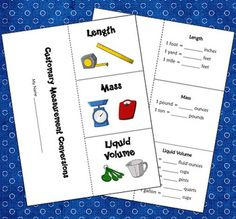 FREE Customary Measurement Foldable from Laura Candler's Teaching Resources
