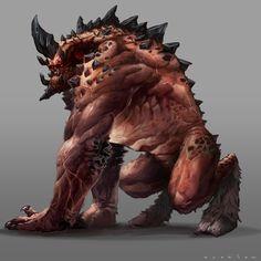 Gulguruth,  Una criatura extremadamente fuere capas de incinerar su cuerpo tiene inteligencia limitada y una fuerza descomunal   Peligro 8-9