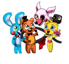 FNAF(chibi) - (GROUP CHIBI SAMPLE) by CattyMaddie on DeviantArt