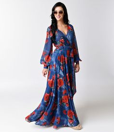 For sun sirens and lovers of all things 70s, this luxurious retro maxi dress is…