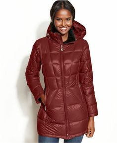 Calvin Klein Coat, Packable Hooded Down Puffer on shopstyle.com