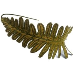 Fern Leaf Headband- Golden Olive Green with Sage Embroidery ($27) ❤ liked on Polyvore
