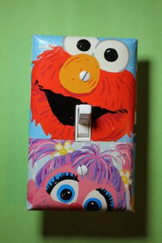 Sesame Street Elmo and Abby Cadabby Light Switch by ComicRecycled, $7.99
