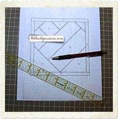 ♥ Foundation paper piecing ou Patchwork sur papier - Tutoriel ♥