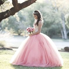 Modest Quinceanera Dress,Pink Beaded Ball Gown,Fashion Prom Dress,Sexy Party Dress,Custom Made Eveni on Luulla Quince Dresses, 15 Dresses, Pretty Dresses, Beautiful Dresses, Quince Pictures, Quinceanera Photography, Wedding Photography, Photography Poses, Photography Studios