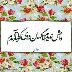 """مولانا ⚫ مولوی ⚫  . . . . بازآمدم بازآمدم از پیش آن یار آمدم در من نگر در من نگر بهر تو غمخوار آمدم شاد آمدم شاد آمدم…"""""""