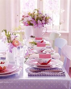 Pink table. #tablesettings