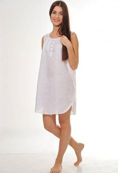 """Nightgown """"Veronica"""" Its tapered shape makes the nightgown """"Veronica"""" one of the most comfortable available. Nighties, Nightgowns, Nightgown Pattern, Sleep Dress, House Dress, Sewing Clothes, Lounge Wear, Casual Outfits, Lingerie"""