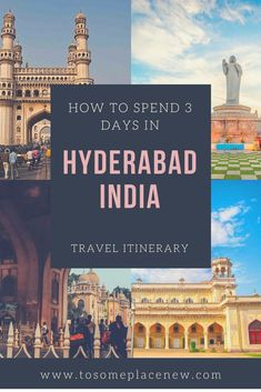 The city of Hyderabad in India has a legacy of the royal Nizams and their beautiful architecture, food & history. Read to craft your Hyderabad Itinerary. Travel Tours, Travel Destinations, Travel Guide, Cool Places To Visit, Places To Travel, Visit India, Incredible India, Amazing, India Travel