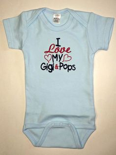 I love my Gigi & Pops embroidered bodysuit. Gigi & Pops can be changed to fit your needs.