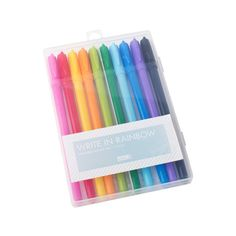 Get creative with these bright and beautiful Rainbow Gel Pens. With all the colours from a rainbow, they're the perfect pens to decorate crafting adventures, journal entries, design handmade cards and add pops of colour to unique gift wrapping.