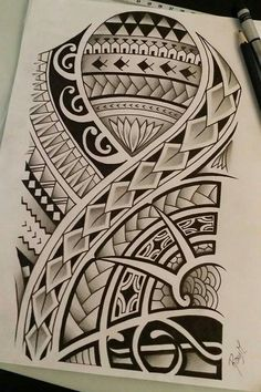 Polynesian drawing i made for a contest #maoritattoossleeve