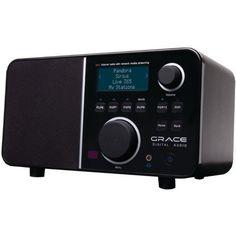 Grace Digital GDI-IR2600 Wi-Fi Internet Radio featuring Pandora, NPR On-Demand, SiriusXM Internet Radio and iHeartRadio.