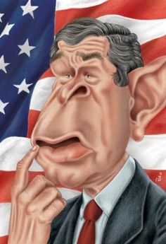 caricatures of presidents | Cartoon: George Bush (medium) by pe09 tagged bush