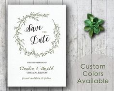 DIY Printable Wedding Save The Date PDF  Simple Wedding