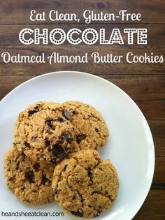 CHOCOLATE OATMEAL ALMOND BUTTER COOKIES
