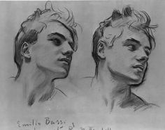 Sketch for a portrait of Emilio Bassi is one of artworks by John Singer Sargent. Artwork analysis, large resolution images, user comments, interesting facts and much more. Life Drawing, Figure Drawing, Drawing Sketches, Art Drawings, Painting & Drawing, Drawings Of Men, Drawing Ideas, Sketching, John Singer Sargent