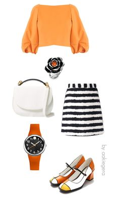 """Orange mood"" by aakiegera on Polyvore featuring мода, TIBI, MSGM, Philip Stein, Cynthia Rowley и West Coast Jewelry"