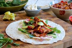 Chicken fajitas with epic Mexican salsa